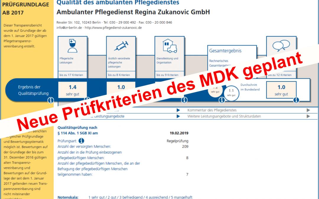 MDK-Qualitätsprüfung ambulant wird sich ändern